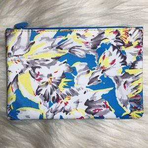 Ipsy Glam Bag 💄 Blue, White, & Yellow Makeup Bag